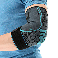 Elbow protection elastic outdoor tennis basketball running sport safety elbow pads breathable absorb arm protection gear smith safety gear crown park elbow pads