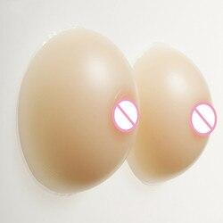 Formas de pecho de silicona Copa E falso CD pechos redondos mejorador de sujetador 1400g sin espalda sujetador sin tirantes sujetador sin costuras Push Up copa completa