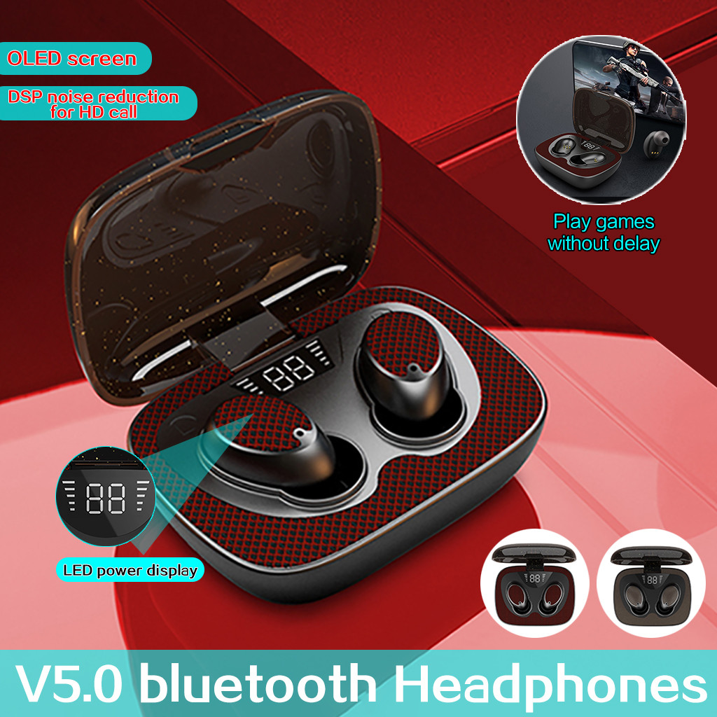 Bluetooth Headset 5 0 Flip Flop Digital Display Sport Stereo In Ear Headphones Earbuds Stereo Sans Fil Casque Wireless G40 Bluetooth Earphones Headphones Aliexpress