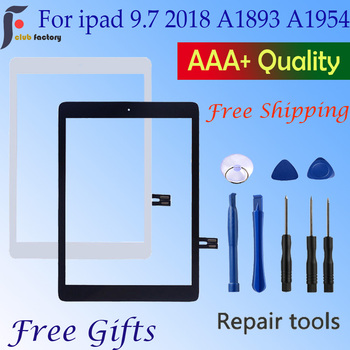 For iPad 2018 Touchscreen Digitizer For  iPad 9.7 2018 Touch Screen Glass Panel Replacement Sensor A1893 A1954 netcosy touch screen digitizer glass panel replacement for ipad 3