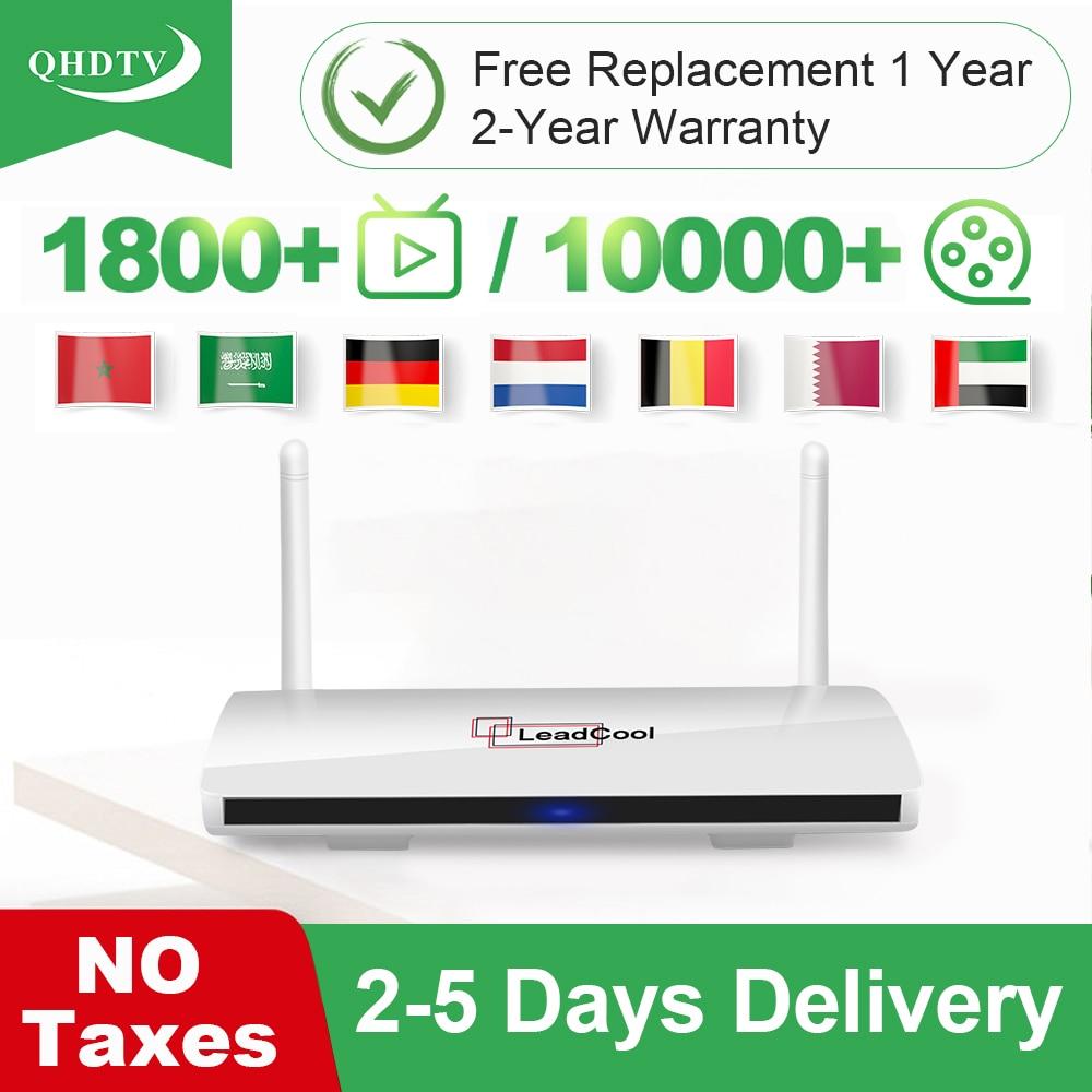Leadcool Smart IP TV Nederland арабский QHD TV Android 9,0 RK3229 IP TV Германия Бельгия голландский Марокко Алжир IP TV без приложения