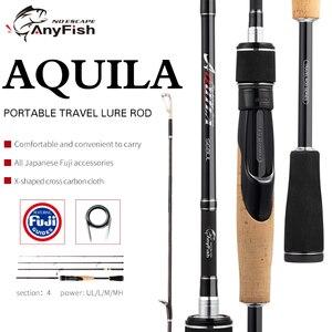 Image 1 - ANYFISH AQUILA Travel Fishing Rod Spinning Carbon lure rod UL/L/M/MH Power 1.83M/1.92M/2.01M/2.07M/2.13M Fast Action spinning