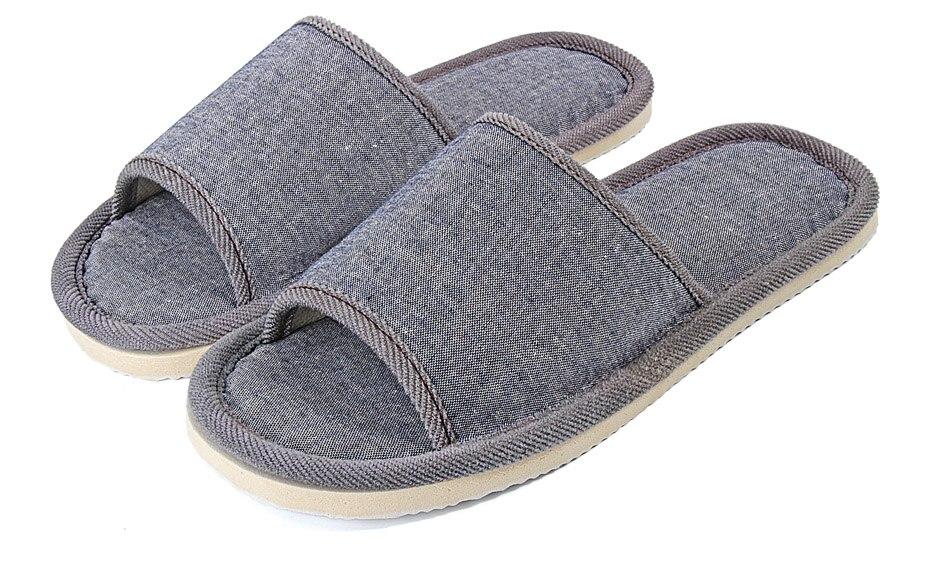 Летние мужские бытовые повседневные туфли, дышащие льняные тапки от пота для мужчин, домашние тапочки, мужские пляжные сандалии Тапочки    АлиЭкспресс
