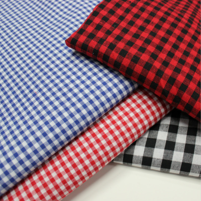 Classic Plaid Cotton Fabric for Dress Shirt Cosplay DIY Sewing Table Cover Pillow Home Decoration Textile image