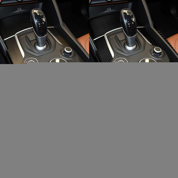 DWCX 3pcs Carbon Fiber Texture Black Car Center Console Panel Trim Cover fit for Alfa Romeo Giulia 2017 2018 2019