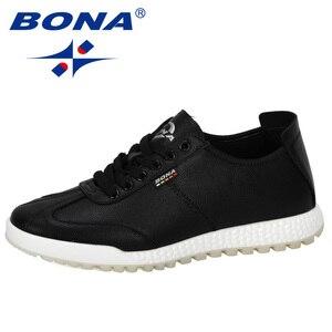 Image 2 - BONA 2019 Phong Cách Mới Vulcanize Giày Nam Sneakers Cổ Không Trượt Thắt Dây Đeo Chống Giày Tenis masculino Giải Trí Giày