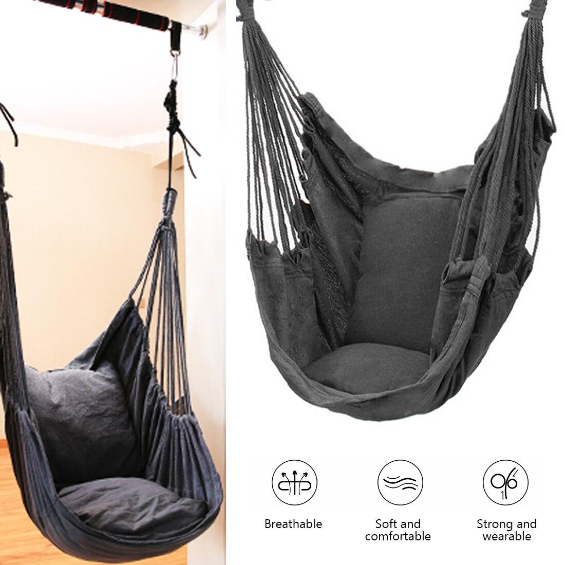 Без Подушки для детей/гамак для взрослых 270 Висячие веревочки гамак кресло качели большой гамак кресло расслабляющее подвесное кресло для д...