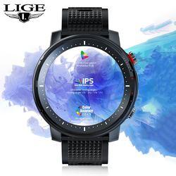 LIGE Smart Watch Men IP68 Waterproof ECG Blood Pressure Heart Rate Sleep Monitoring Sports Fitness Smartwatch For Android iOS