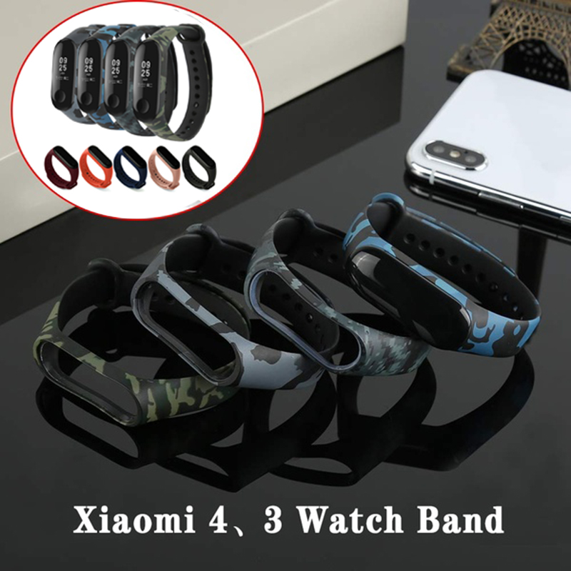 For Xiaomi Mi Band 4 3 Watch Strap Replacement Wrist Straps Wristbands Bracelets Silicone Watch Band For Xiaomi Miband Wristband
