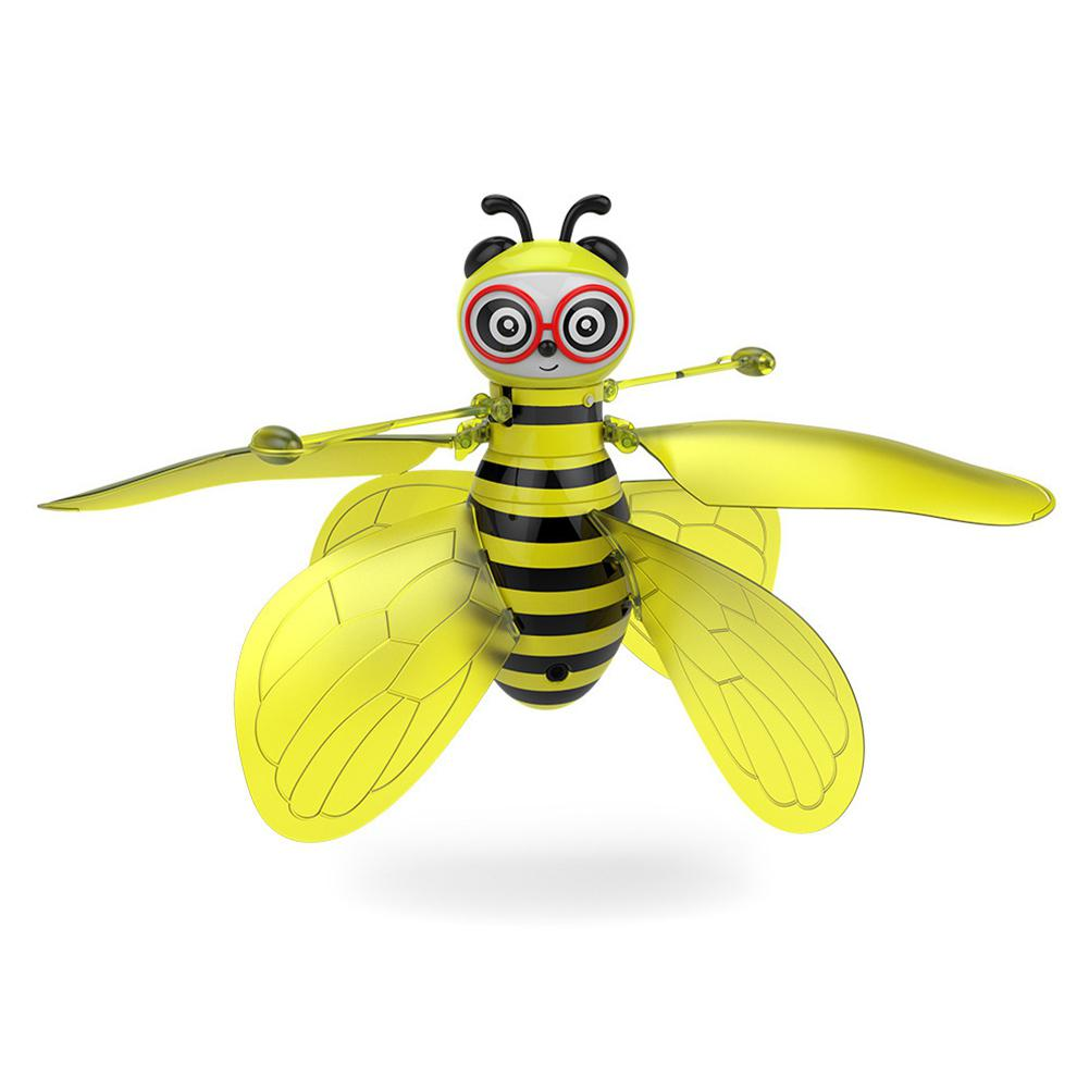 GloryStar RC <font><b>Mini</b></font> Infrared Sensor Bee Flying Induction <font><b>Minion</b></font> <font><b>Drone</b></font> Fly Aircraft Kids Toys image