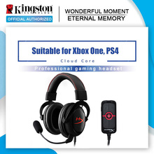 Kingston hyperx 클라우드 코어 게임용 헤드셋 (마이크 포함) 전문 esport 헤드폰 amp7.1 가상 서라운드 사운드