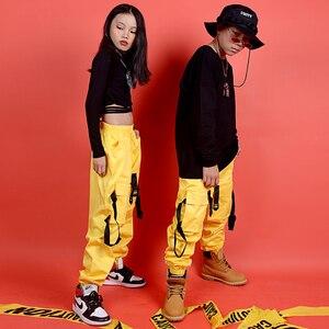 Image 3 - New Hip Hop Abbigliamento Per Bambini Costume di Scena di Strada di Usura Dei Bambini di Jazz Costumi di Ballo di Sala Da Ballo di Performance di Danza Vestiti DQS3065