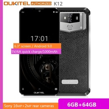 OUKITEL 10000mAh 5V/6A Quick Charge Smartphone K12 6.3
