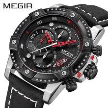 MEGIR montre bracelet étanche pour hommes, marque supérieure de luxe, montre bracelet de sport, chronographe, à Quartz, mode