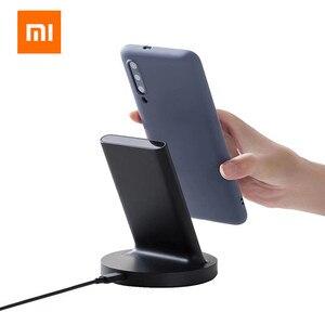Image 3 - Оригинальное вертикальное Беспроводное зарядное устройство Xiaomi, 20 Вт, горизонтальная подставка для Mi 9 (20 Вт) MIX 2S / 3 / S10 (10 Вт), совместимая с Qi, универсальная, безопасная