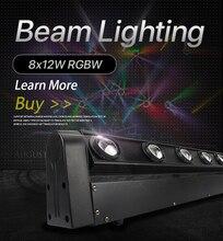 Hareketli kafa ışık LED çubuk 8X12W RGBW 4IN1 LED 10/38 DMX ışın Dj ışıkları için en iyi DJ disko doğum günü partisi dans pisti düğün