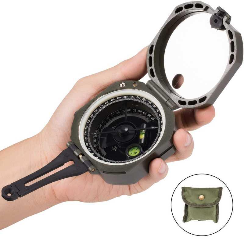 Directional Compass Sichtung Wasserdichte & Leichte Kompasse mit Trage Tasche, Perfekt für Orientierungslauf Camping Reise Wandern