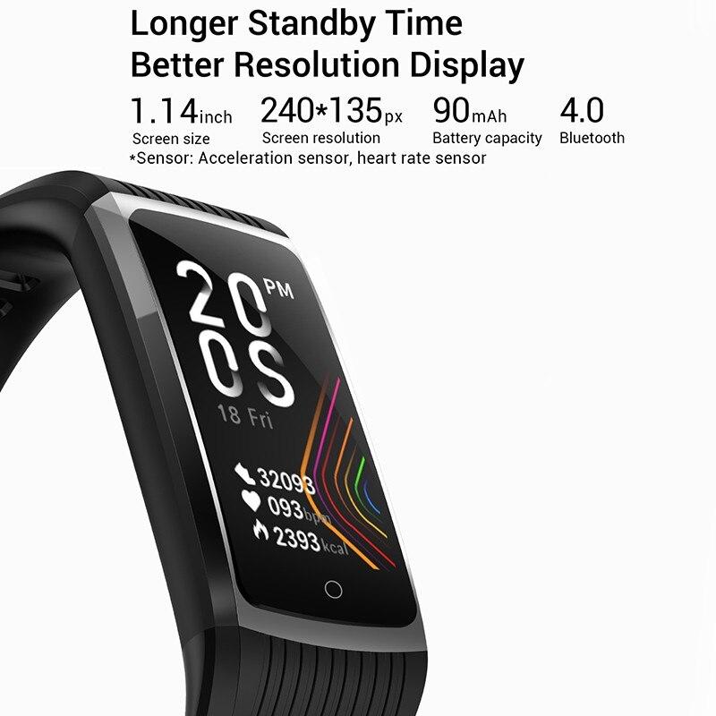 H48b1fa74882843029323810dd5ffadb1p R12 Smart Band Bracelet Fitness Bracelet with Pressure Measurement Health Wristband Pedometer Heart Rate Monitor Cardio Bracelet