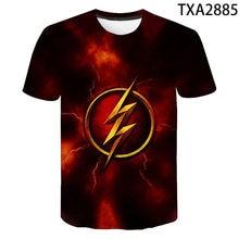 Legal 3d t camisa dos homens das crianças o flash dc anime impressão camiseta verão casual de manga curta menino menina crianças super herói topos t