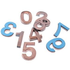 1PCS Plastic Bronze Self- Adhesive 0-9 Door Numbers Customized House Address Sign 5cm*4cm