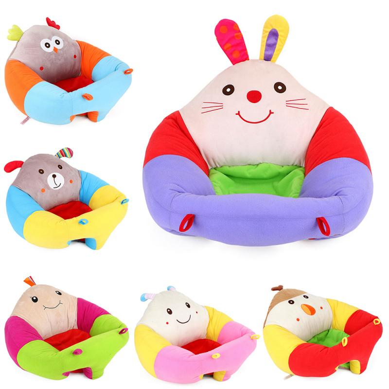 Creative Baby Sofa Infant Seat Cover Baby Seat For Comfort Support Chair Delicate Feel No Hair Loss Color Loss For Learning Sit