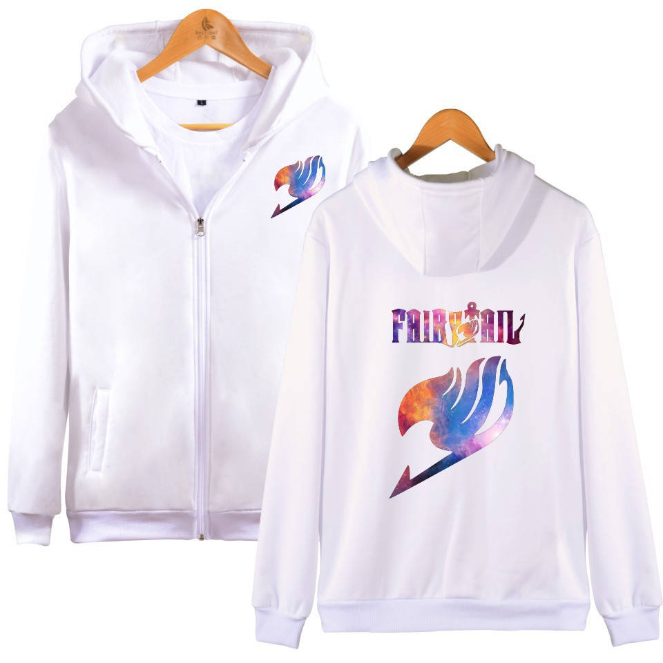 Hot Sale Fairy Tail Hoodies Sweatshirt Men Women Zipper Pullover Hoody Winter Warm Fashion Casual Fairy Tail Men's Clothing