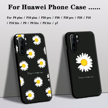 Phone Cases For Huawei P30 p20 pro p10 p9  p8 lite Cover Soft Silicon p7 p9/p10 plus p9 lite Case Rose Flower Floral back Cover king queen soft silicone phone back case for huawei p20 p30 p8 p9 p10 lite pro plus p smart tpu cover
