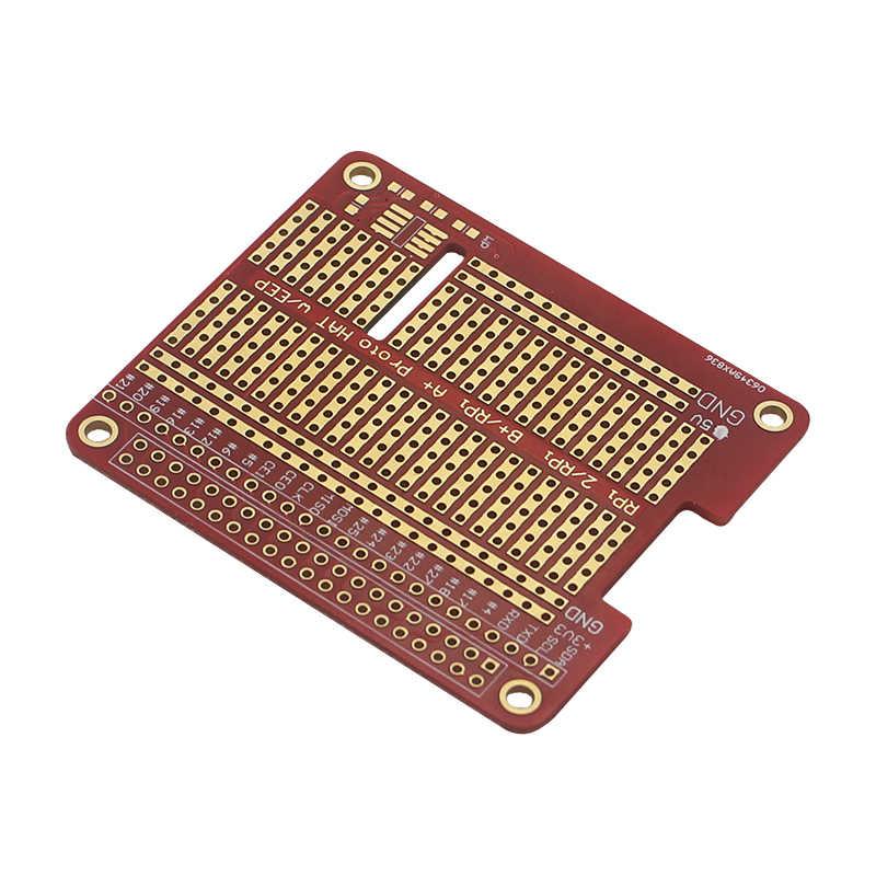 DIY Proto Topi Pelindung Sambungan Papan untuk Raspberry Pi 4 Model B/3B +/3B Merah RPI GPIO papan untuk