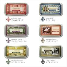 1pc Japan Tsukineko Inkpads CQ Classique Archival Pigment Ink Pad Vintage Metal Box Stamp Waterproof 12 Colors