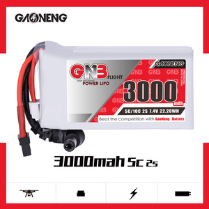 Image 2 - Gaoneng GNB 3000MAH 2S 5C Goggles Lipo Battery Power Indicator for Fatshark Dominator Skyzone Aomway FPV Goggles RC Drone