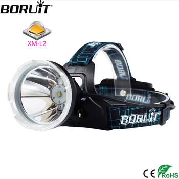 BORUIT B10 XM-L2 LED Super Bright Headlight Micro USB Charge 18650 Battery Headlamp 4-Mode Head Torch Camping Hunting Flashlight шлепанцы super mode super mode su013awtqe16