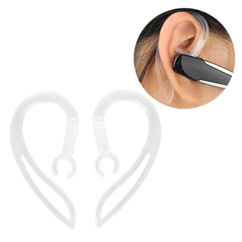 Auriculares Bluetooth de 6mm auriculares de silicona suaves transparentes con Clip de gancho para el oído LX9A