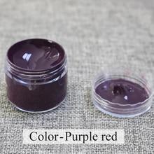 Purple Red Leather Paint Kit Auto Car Seat Sofa Coats Holes Scratch Cracks Rips Liquid Restoration Complementary Color