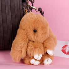 Cute Japanese and Korean models imitation rabbit hair key pendant with dead bag plush keychain gift