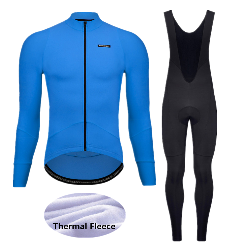 2020 Winter thermal fleece bike Clothes Set men's Etxeondo Cycling Jersey Sport riding MTB bicycle clothing sets -69DEF