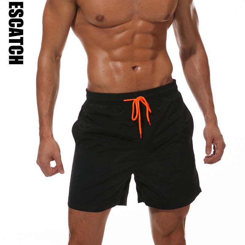 Marca ESCATCH, bañador para hombre, bañadores cortos para la playa, bañadores para hombre, Bermudas para gimnasio, bañador para hombre, pantalones cortos deportivos para correr y Surf