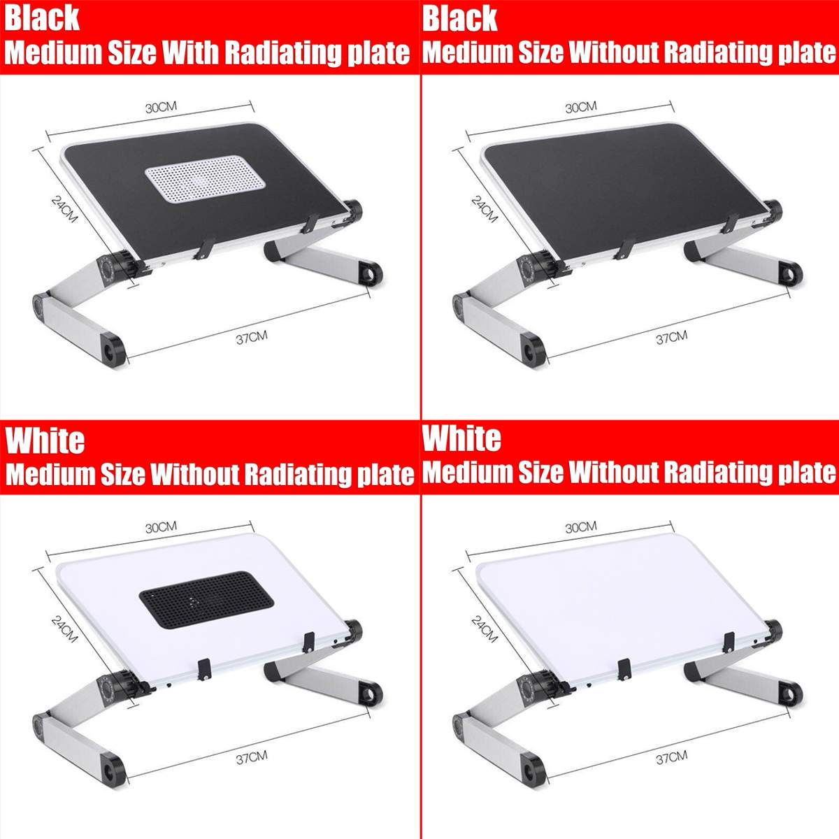 Adjustable Aluminum Laptop Desk Ergonomic Portable TV Bed Lapdesk Tray PC Table Stand Notebook Table Desk Stand