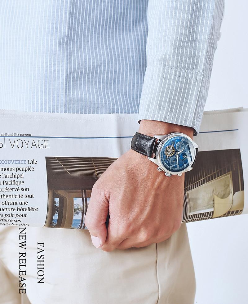 H48b3726d62ef4c81a9f496d6897c70399 Skeleton Tourbillon Mechanical Watch Men Automatic Classic Rose Gold Leather Mechanical Wrist Watches Reloj Hombre 2018 Luxury