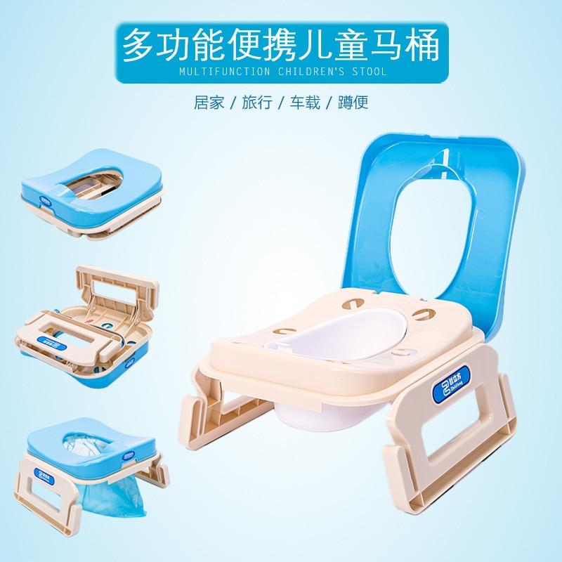 Portable CHILDREN'S Toilet Folding Pedestal Pan Children Toilet Potty Chair Squat Toilet Men And Women Baby BB Bedpan Zuo Bian D
