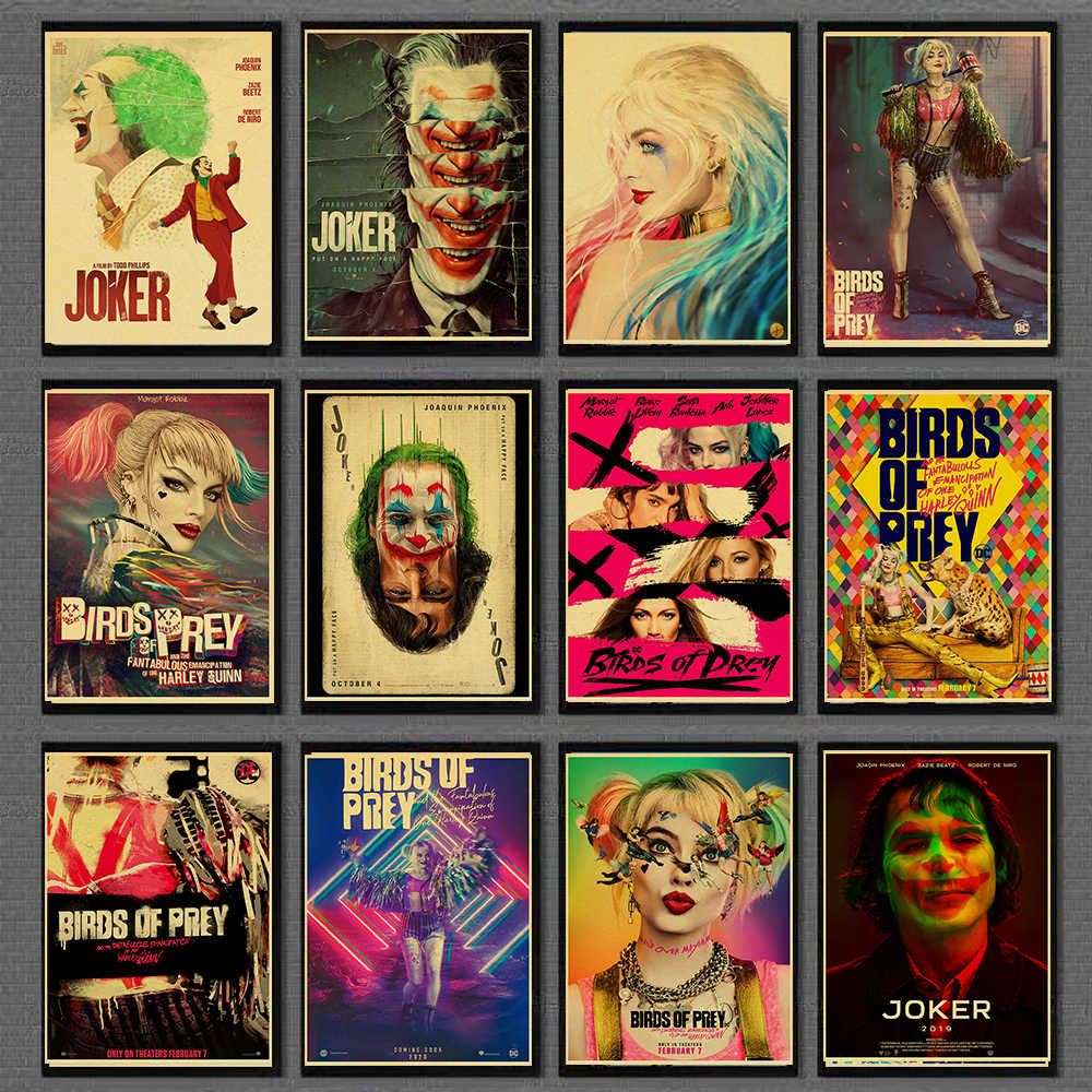 Birds Of Prey Harley Quinn Joker Retro Movie Poster Vintage Prints Home Room Bar Posters Wall Decor Art Painting Aliexpress
