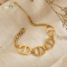 Nextvance – Bracelets en acier inoxydable pour femmes, nouvelle mode, bonne qualité, chaîne ovale, cadeau pour petite amie
