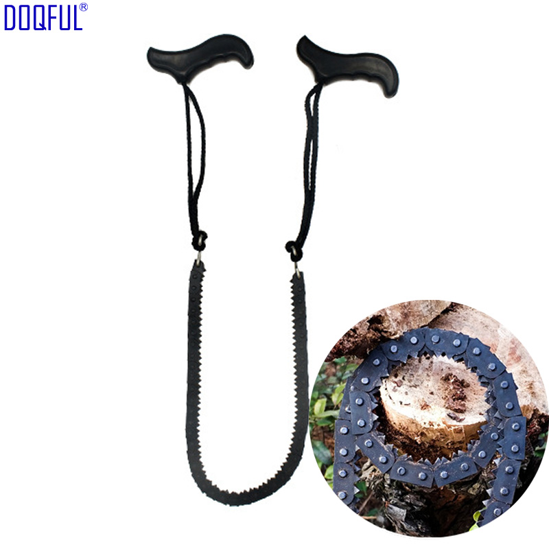 50pcs/lot Portable Chain Saw Sharp Sawtooth Wilderness Survival Manganese Iron Sawing Lightweight Camping Outdoor Cut Wood