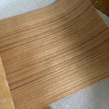 Naturalne oryginalne tajskie drewno tekowe fornir plasterek do mebli około 26cm x 2.5 metrów 0.25mm brązowy Q/C