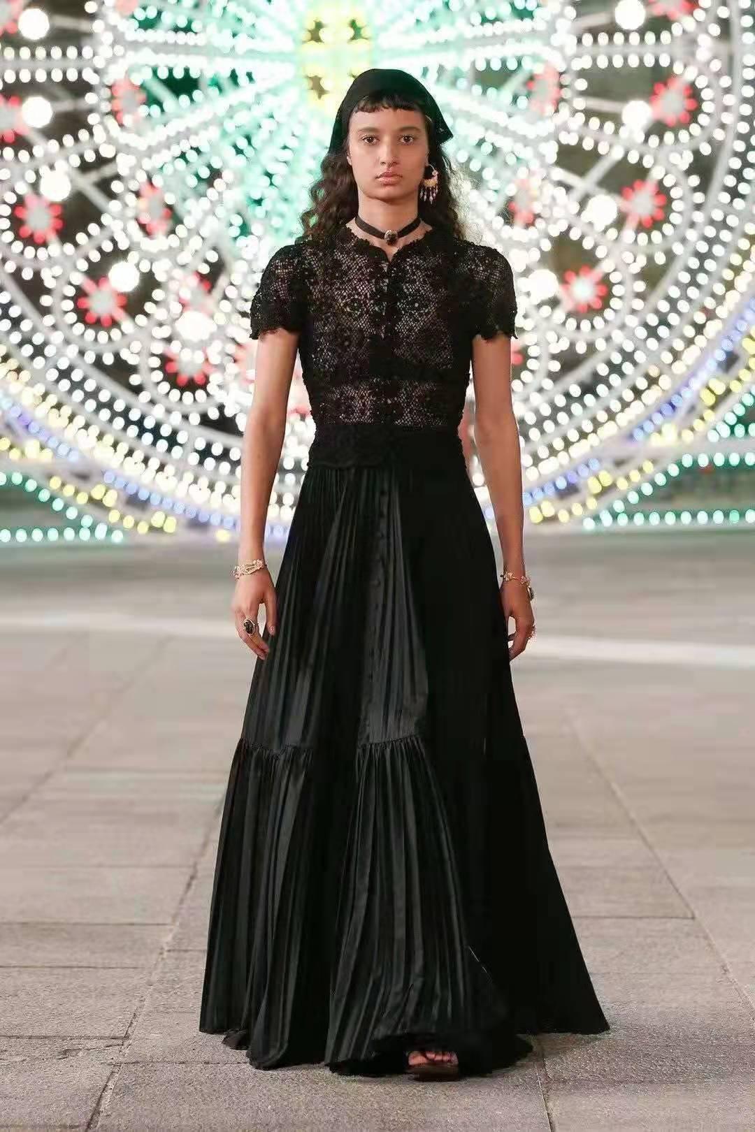 Prom Dresses Summer Dress 2021 Evening Lace Cotton Party Vintage Long Dress V Neck Short Sleeve Black White Women Clothing Molin 6