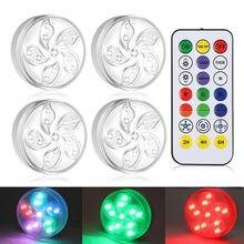 Luz LED regulable impermeable debajo del armario, decoración de iluminación de dormitorio, lámpara nocturna RGB de sueño de succión magnética