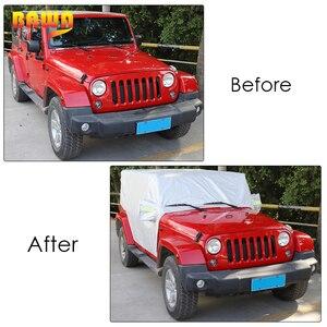 Image 4 - BAWA Auto Abdeckung Für Jeep Wrangler JK 2007 + Auto Körper Staubdicht Wasserdichte Schutz Abdeckung Zubehör für Jeep Wrangler JL 2018 +