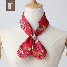 Cowboy Horse Printing Scarf Female Twill Silk Square Bandana Scarves Neck Head Rings Accessories 55*55cm Wristband