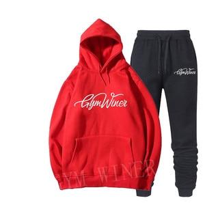 Image 4 - New 2019 Brand New GYM WINER Men Sportswear Print Men Hoodies Pullover Hip Hop Mens tracksuit Sweatshirts Clothing