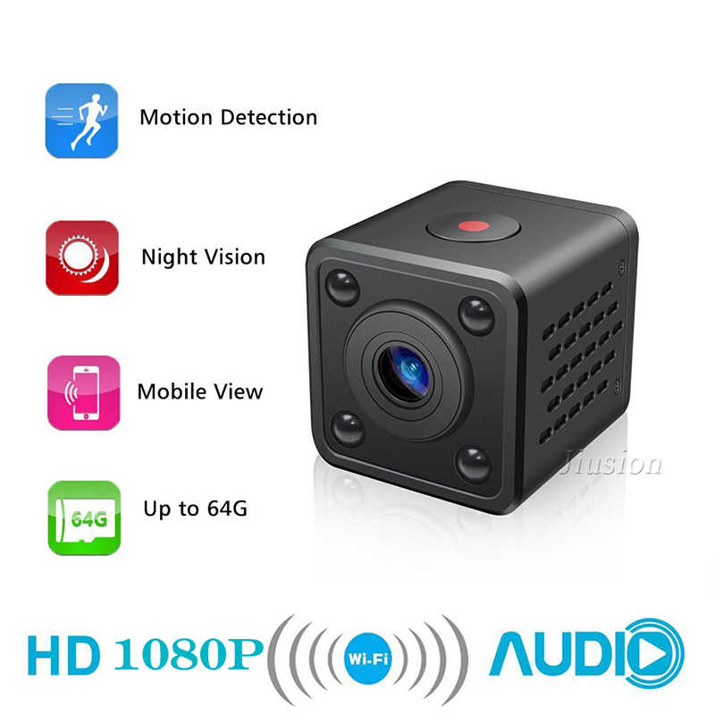 Mini Wifi Camera IP Wireless Cam Remote Control App Support Motion Detection Wide Angle IR Night Vision Secret Support TF Card