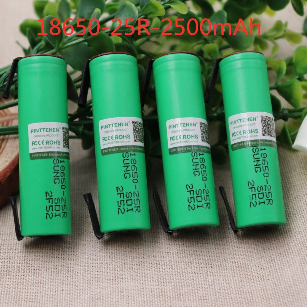 100% Original For Samsung 18650 2500mah battery INR18650 25R 20A discharge lithium batteries+ DIY Nickel image